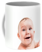 Cute Happy Baby Laughing On White Coffee Mug