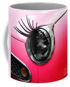 Cute Pink Car Coffee Mug by Jasna Buncic