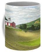 Cutting Hay In Summer On Maine Farm Coffee Mug