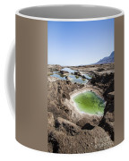 Dead Sea Sinkholes  Coffee Mug by Eyal Bartov