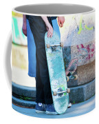 Detail Of Skateboard And Legs Coffee Mug