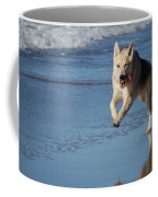 Dog On Beach Coffee Mug
