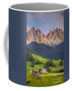 Dolomites From Val Di Funes Coffee Mug