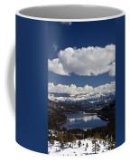 Donner Lake Donner Pass With Snow Coffee Mug