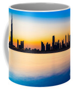 Dubai Skyline At Dusk Coffee Mug