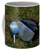 Earth Golf Ball And Golf Club Coffee Mug
