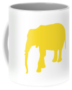 Elephant In Golden And White Coffee Mug