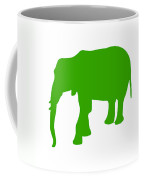 Elephant In Green And White Coffee Mug
