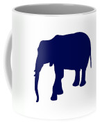 Elephant In Navy And White Coffee Mug