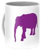 Elephant In Purple And White Coffee Mug