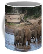 Elephants Crossing The River Coffee Mug