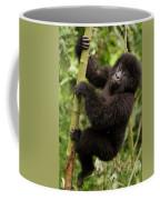 Endangered Mountain Gorillas Habitate Coffee Mug