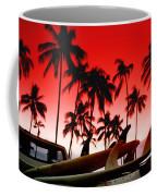 Fins N' Palms Coffee Mug by Sean Davey