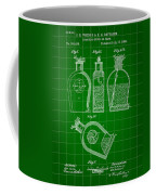 Flask Patent 1888 - Green Coffee Mug