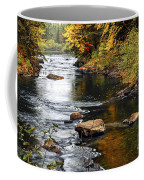 Forest River In The Fall Coffee Mug