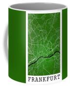 Frankfurt Street Map - Frankfurt Germany Road Map Art On Colored Coffee Mug
