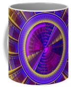 Futuristic Tech Disc Fractal Flame Coffee Mug