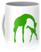 Giraffe In Green And White Coffee Mug