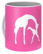 Giraffe In Pink And White Coffee Mug