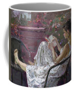 Girl Reading Coffee Mug