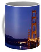 Golden Gate Bridge At Night Coffee Mug