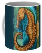 Golden Seahorse Coffee Mug
