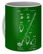 Golf Club Patent 1909 - Green Coffee Mug