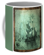 Grungy Historic Seaport Schooner Coffee Mug