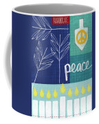 Hanukkah Peace Coffee Mug