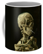 Head Of A Skeleton With A Burning Cigarette Coffee Mug