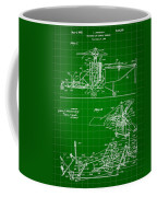 Helicopter Patent 1940 - Green Coffee Mug