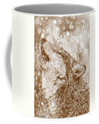 Howling Gray Wolf Coffee Mug