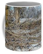 Ice Storm Poplars Coffee Mug