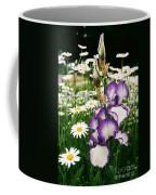 Iris And Daisies Coffee Mug