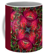 Kaleidoscope Made From An Image Of A Coleus Plant Coffee Mug