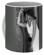 Lady In White Bw Coffee Mug