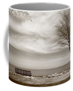 Lake And Park Bench Coffee Mug