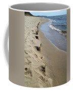 Lake Michigan Shoreline Coffee Mug by Michelle Calkins