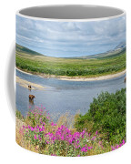 2-lay Of The Land-grizzly Bears In Moraine River In Katmai Np-ak Coffee Mug
