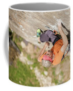 Man Climbing Re Azul, An Historic 7b Coffee Mug