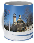 Mcgulpin Point Lighthouse In Winter Coffee Mug