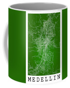 Medellin Street Map - Medellin Colombia Road Map Art On Colored  Coffee Mug