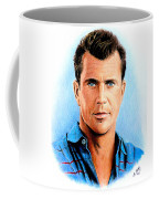 Mel Gibson Coffee Mug by Andrew Read