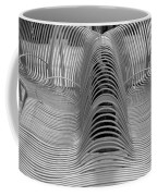 Metal Strips In Black And White Coffee Mug