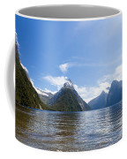 Milford Sound And Mitre Peak In Fjordland Np Nz Coffee Mug