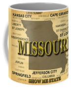 Missouri State Pride Map Silhouette  Coffee Mug