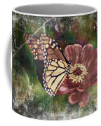 Monarch- Butterfly Mixed Media Photo Composite Coffee Mug