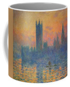 Monet's The Houses Of Parliament At Sunset Coffee Mug