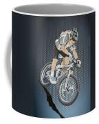 Mountainbike Sports Action Grunge Color Coffee Mug
