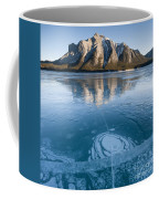 Mt. Michener And Ice On Abraham Lake Coffee Mug